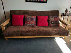 Brown Futon Couch 7th Heaven Futons