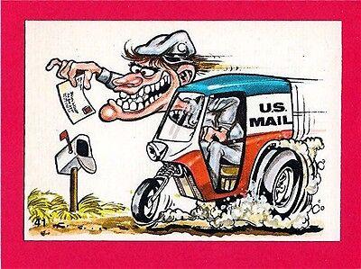 Vintage Donruss Odder Odd Rod #41 U S Mail Card Sticker Old Store Stock