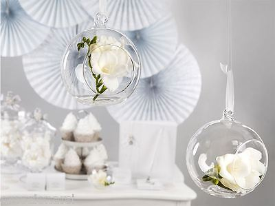 sfera vetro porta tealight matrimonio palla bomboniera shabby tableau sposa KS10
