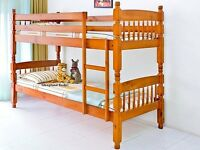 Solid Pine Chunky Pine Bunk Beds