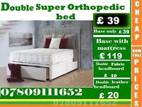 New Single, Double and King Size Super Orthopedic Bed Frame with Mattress Range