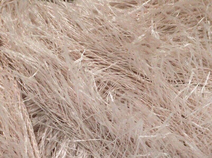 Bone Fun Fur 50 Gram Powder Eyelash Yarn #50636 Ice Off-White