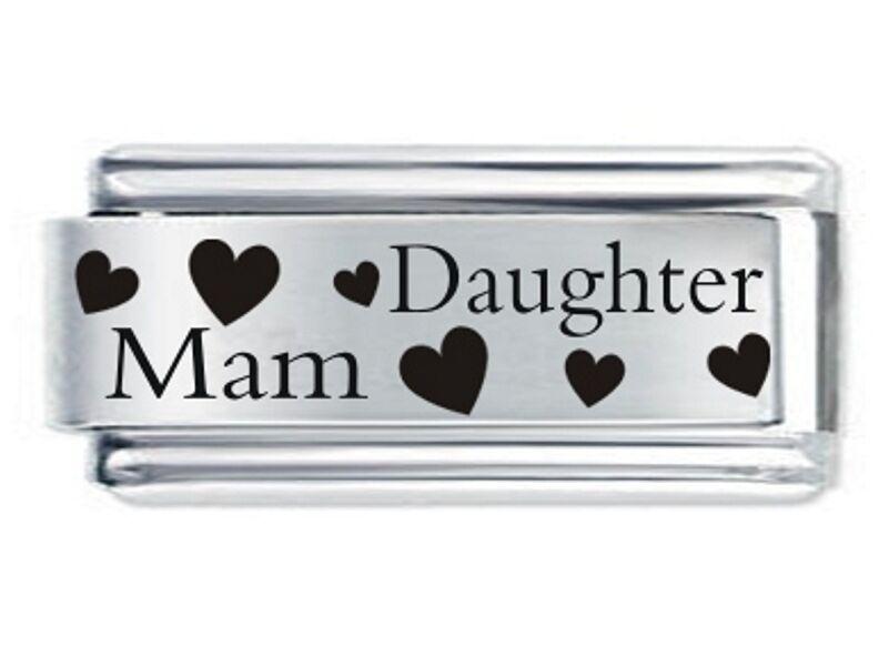 Daisy Charm For 9mm Italian Modular charm bracelet MAM /& SON Superlink 18mm