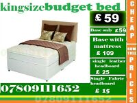 Brand New Double Single King Size Small Double Base BUDGET Base Frame Bedding