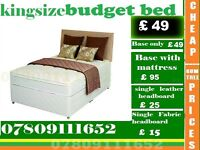Single, Double and King Size Memorey Foam Bed Frame with Mattress Range