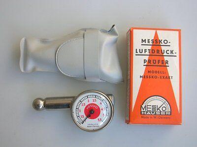 MESSKO HAUSER RED DOT TYRE PRESSURE GAUGE TIRE FITS PORSCHE 356 911 TOOL BAG NOS