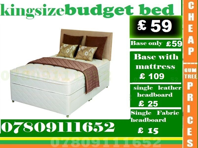 Brand New Double Single King Size Small Double Base BUDGET Base Frame Beddingin Wallington, LondonGumtree - IMPRESSIVE OFFER....EXTREME Quality Furniture like Divan and Leather Base available contact us