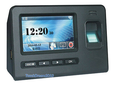 New Generation Touch Pad Biometric Fingerprint Time Attendance Access Control