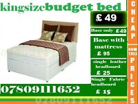 A ONE Double , Single , King and Small Double Bed Budget Bed Frame And Mattresses