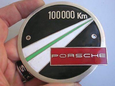 PORSCHE 100000 KM BADGE PORSCHE 356 911 550 BADGE PLAKETTE - RARE ORIGINAL