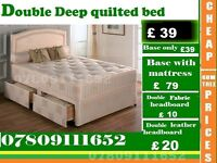Single / Double / King Size Bed base with Mattress