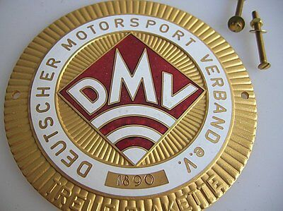 VINTAGE DMV CAR BADGE KDF VW COX BUG BMW MERCEDES MB 190 300 SL