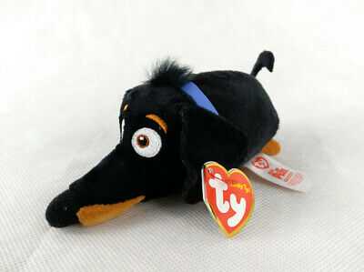 "3.2"" TY Teeny Tys Secret Life of Pets Dachshund 2018 Buddy Stackable Plush Toys"