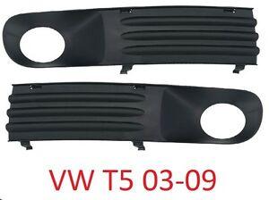 VW-TRANSPORTER-T5-03-09-Parachoques-Parrilla-Rejilla-VENTILACIoN-ABERTURA-L-R