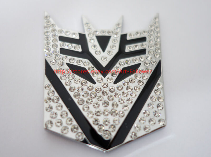1P Rhinestone Decal Emblem Transformer Decepticons Metal  Auto Sticker 1P
