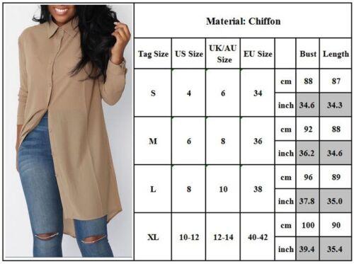 Fashion Women Summer Tunic Tops Blouse Loose Casual Chiffon Shirt Dress US STOCK