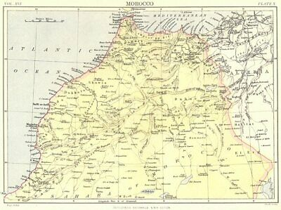 MOROCCO. Britannica 9th edition 1898 old antique vintage map plan chart