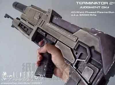 Terminator 2 40-watt Phased Plasma Gun ENDO Rifle Paper Craft Model 1:1 Scale