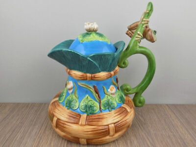 House of Hatten Lord of the Pond Teapot Peggy Fairfax Herrick frog lily pad