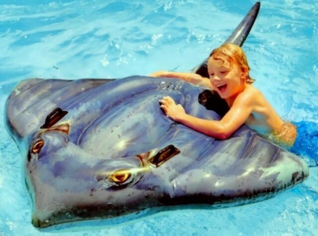 GIANT 6FT INFLATABLE STINGRAY RIDE ON POOL BEACH WATER LILO FLOAT TOY TY6127