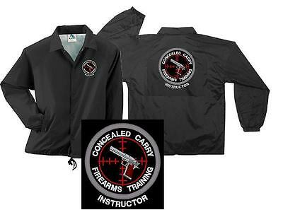 Concealed Carry Firearms Training Instructor Coaches Jacket M 5X Police Sheriff