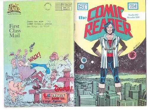 THE COMIC READER #162 - 1978 fanzine - Sergio Aragones illo Fred Hembeck cartoon