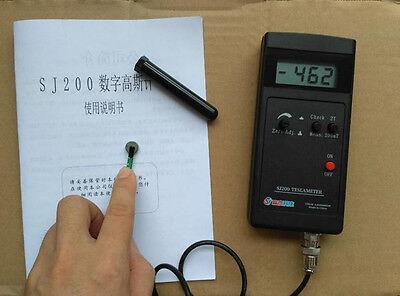 Ce Sj200 Gauss Meter Tesla Meter Magnetic Flux Meter 0.1mt 1mt W Power Supply