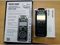 Tascam DR05 Digital Audio Recorder.