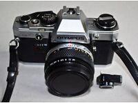 OM10 Film Camera. Unwanted gift belonging to a friend. Prof. serviced prior to purchase.