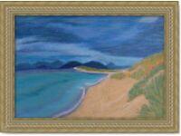 Original Hand Made oil pastel Art painting Scottish Sea II decoration