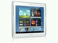Samsung tablet white galaxy note 10.1 GT N8010 barely used with cover