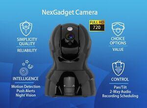 NEXGADGET Security Wireless 720P HD IP Camera 2-Way Audio w/ Night Vision (NEW)