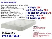 Sprung and Memory Foam Mattresses Available For Single Double King/SuperKing Size Beds