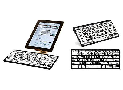 Large Print White Keys with Black Print - Bluetooth Mini Key