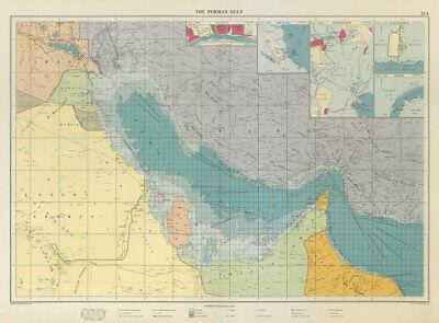 Persian Gulf sea chart. Trucial Oman. Dibai (Dubai). Neutral zone LARGE 1959 map