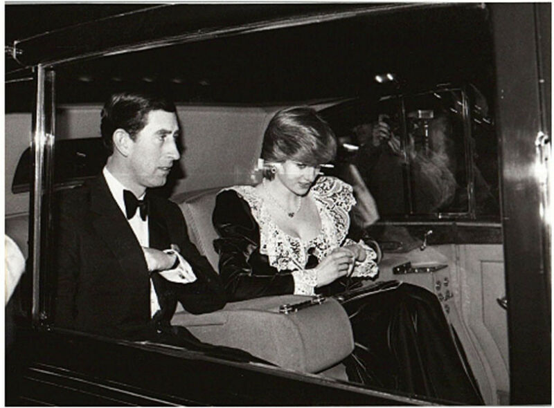 Prince Charles Princess Diana Royal Family Carriage original Press Still Photo