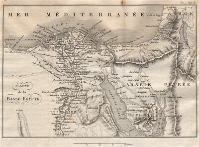Lower Egypt. 'Basse Egypte'. Nile Delta. French Revolutionary Wars 1818 map