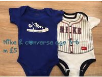 Nike & Converse Baby boys vests 3-6mths