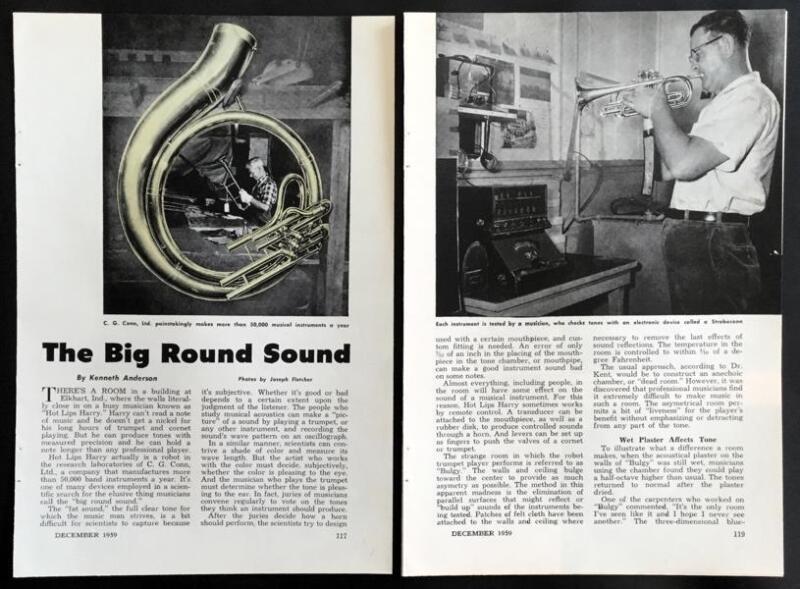 1959 Conn factory pictorial *Big Round Sound* Brass Instruments