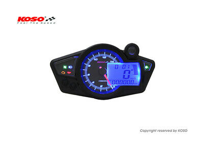 Aurora Instruments Ghost Flame Black//Blue Speedometer Gauge GAR283ZEXHABCF