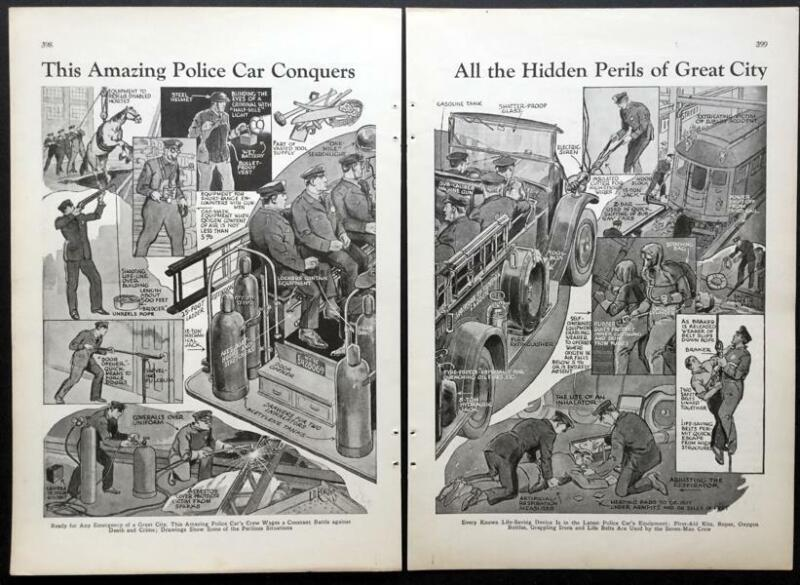Police Emergency Wagon 1932 graphic pictorial NYC Chicago