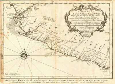 'Partie de la Coste de Guinée' Sierra Leone Liberia coast BELLIN/SCHLEY 1747 map