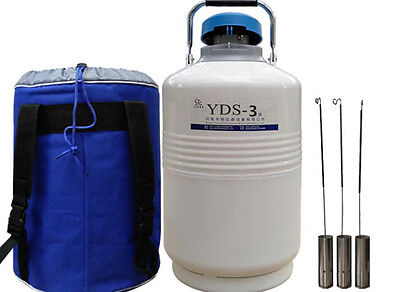 Ce Yds-3 3l Cryogenic Liquid Nitrogen Container Ln2 Tank Dewar With Straps
