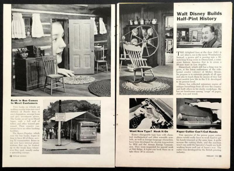 Disneylandia 1953 pictorial Granny Kincaid Cabin Walt Disney tableau Disneyland
