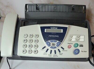 Brother Fax-575 Personal Plain Paper Fax Machine Phone Copier Tested