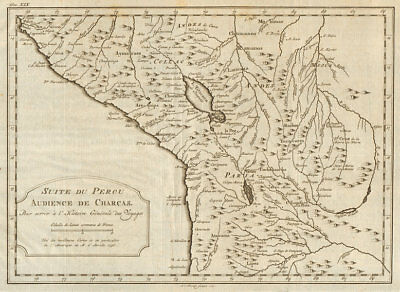 'Suite du Perou. Audience de Charcas'. Bolivia Peru.  BELLIN/SCHLEY 1772 map