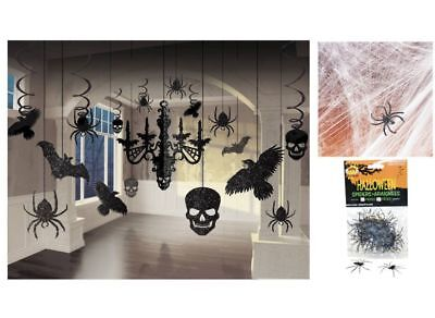 Halloween Party Haunted House Decorations Chandelier, Spider Web, Spiders