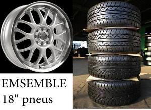 18 pouce 949$ avec pneus neufs ///PNEUS PERFORMANCE///