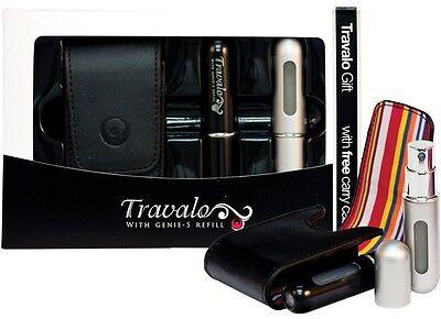Usato, Travalo GIFT SET con nr. 2 Portaprofumo ricaricabili + pochette in PELLE GRATIS! usato  Palazzi
