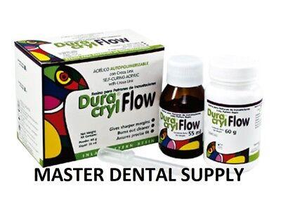 Dental Self Cure Acrylic Kit Liquid 55ml Powder 60g Duracryl Flow Inlay Resin